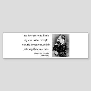 Nietzsche 1 Bumper Sticker