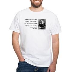 Nietzsche 1 White T-Shirt