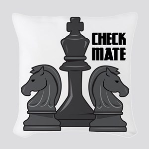 Check Mate Woven Throw Pillow