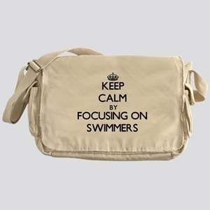 Keep Calm by focusing on Swimmers Messenger Bag