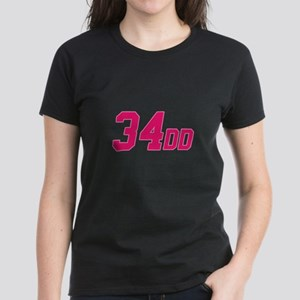 34DD Women's Dark T-Shirt