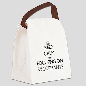 Keep Calm by focusing on Sycophan Canvas Lunch Bag