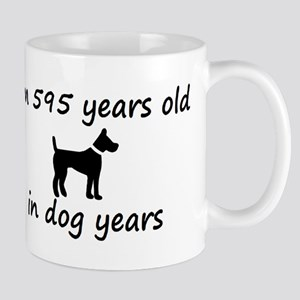 85 dog years black dog 2 Mugs
