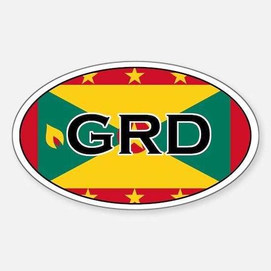Grenada Flag Oval Decal