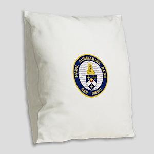 NAVAL SUBMARINE BASE San Diego Burlap Throw Pillow