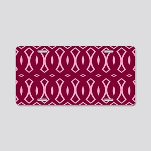 Cranberry Pink Pattern Aluminum License Plate