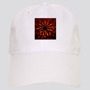 Orange Red Flower Glow Cap