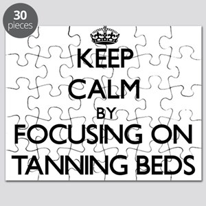 Keep Calm by focusing on Tanning Beds Puzzle