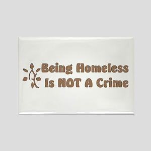 Homeless Not A Crime Rectangle Magnet