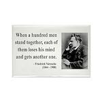 Nietzsche 19 Rectangle Magnet (100 pack)