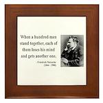 Nietzsche 19 Framed Tile