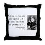 Nietzsche 19 Throw Pillow