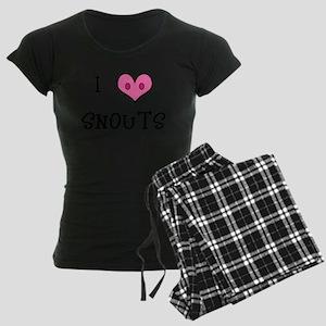I Love Snouts Women's Dark Pajamas