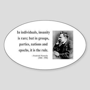Nietzsche 18 Oval Sticker