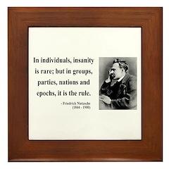 Nietzsche 18 Framed Tile