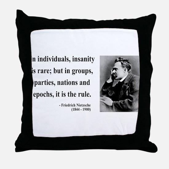 Nietzsche 18 Throw Pillow