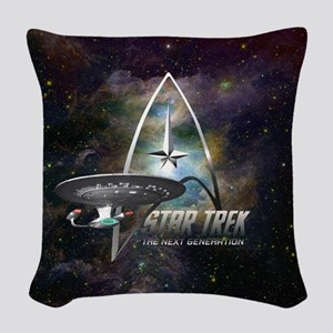 Star Trek Next Generation Woven Throw Pillow