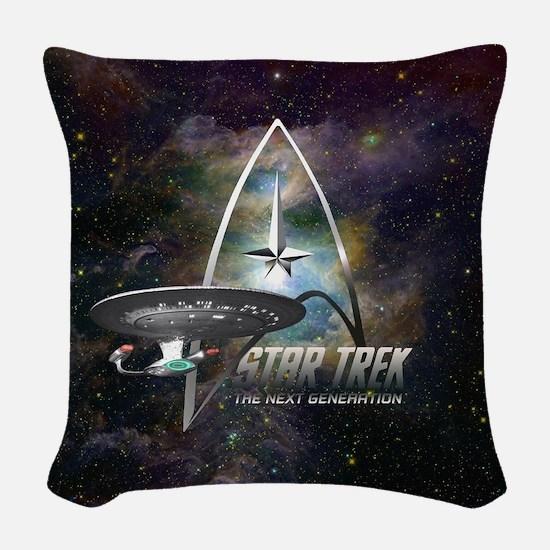 Star Trek Next Generation Woven Throw Pillow