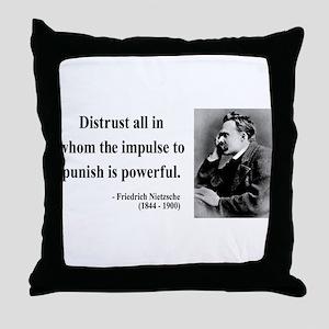 Nietzsche 17 Throw Pillow