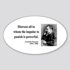 Nietzsche 17 Oval Sticker