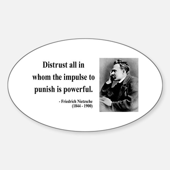 Nietzsche 17 Oval Decal