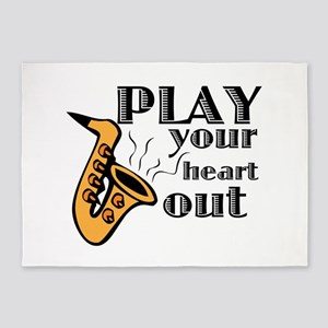 Play Heart Out 5'x7'Area Rug