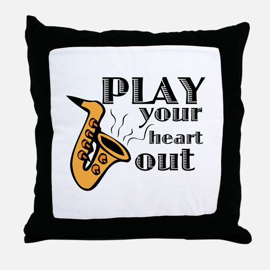 Play Heart Out Throw Pillow