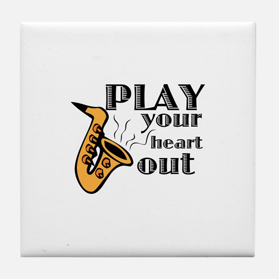 Play Heart Out Tile Coaster