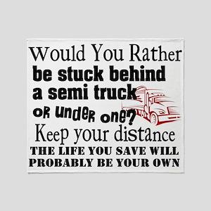 Behind or Under Trucking Throw Blanket