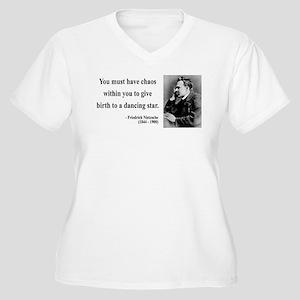 Nietzsche 16 Women's Plus Size V-Neck T-Shirt