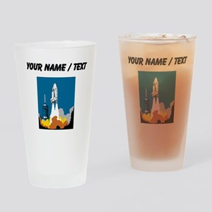 Space Shuttle Launch (Custom) Drinking Glass