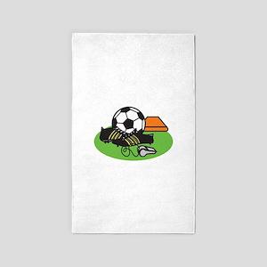 Soccer Gear 3'x5' Area Rug