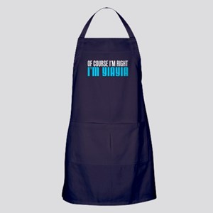 I'm Right I'm YiaYia Apron (dark)