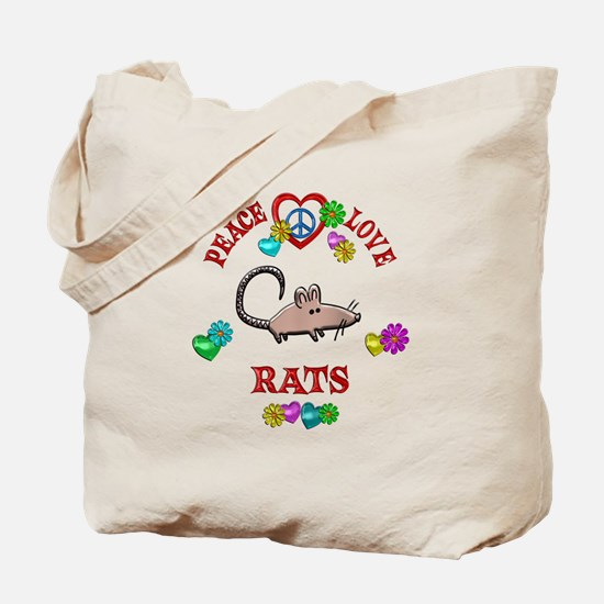 Peace Love Rats Tote Bag