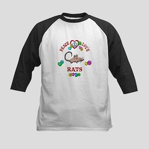 Peace Love Rats Kids Baseball Jersey