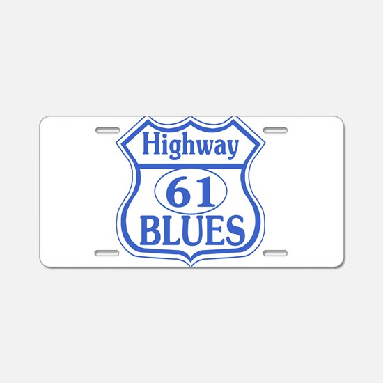 Hwy 61 Blues Aluminum License Plate