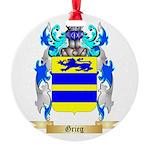 Grieg Round Ornament