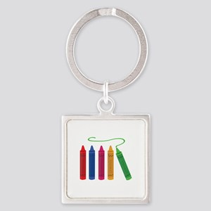 Color Crayons Keychains