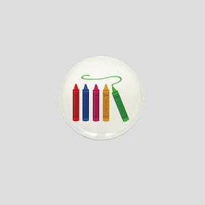 Color Crayons Mini Button