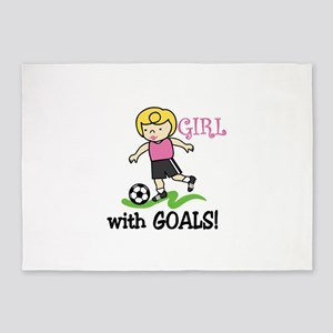 Girl With Goals 5'x7'Area Rug
