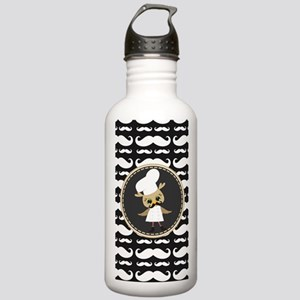 Retro Mustache Owl Che Stainless Water Bottle 1.0L