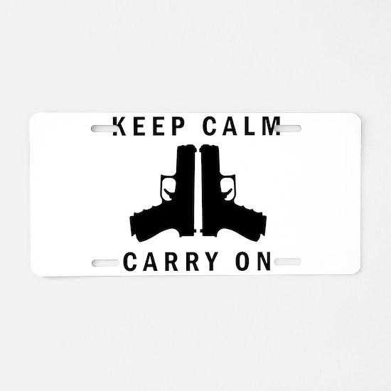 Keep Calm Carry On Aluminum License Plate