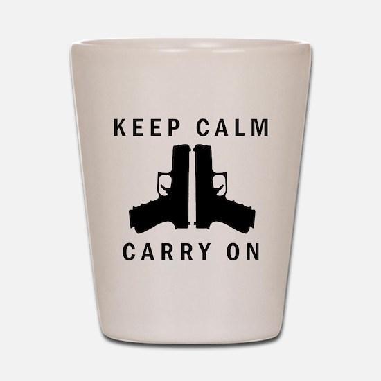 Keep Calm Carry On Shot Glass