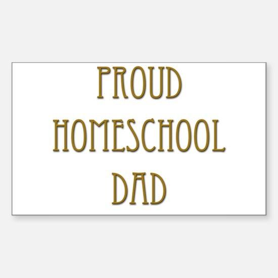 Proud Homeschool Dad 15 Rectangle Decal