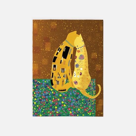 &Quot;Klimt's Kats&Quot; Area 5'X7'area Rug