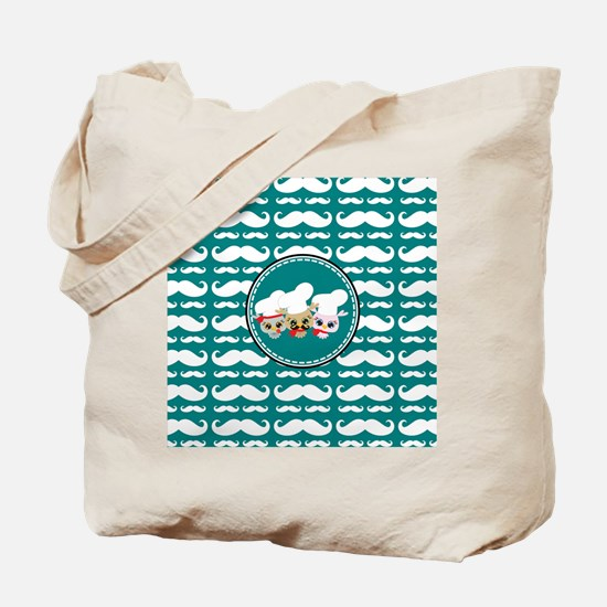 Owl Mustache Chef and Friends Tote Bag