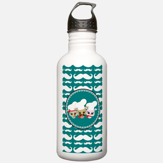 Owl Mustache Chef and Water Bottle