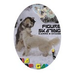 Figure Skating WOOF Games 2014 Ornament (Oval)