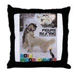 Figure Skating WOOF Games 2014 Throw Pillow