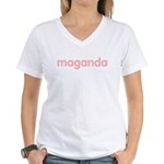 maganda Women's V-Neck T-Shirt